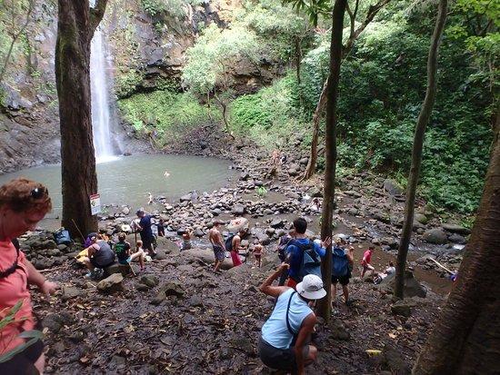 Kayak Wailua : Climb down into falls