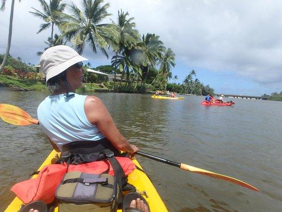 Kayak Wailua : Return trip