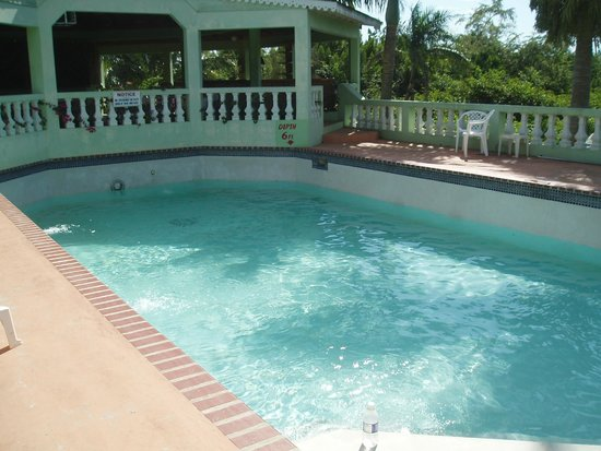 Hidden Paradise Resort Hotel: Pool and breakfast area overlooking the Morass