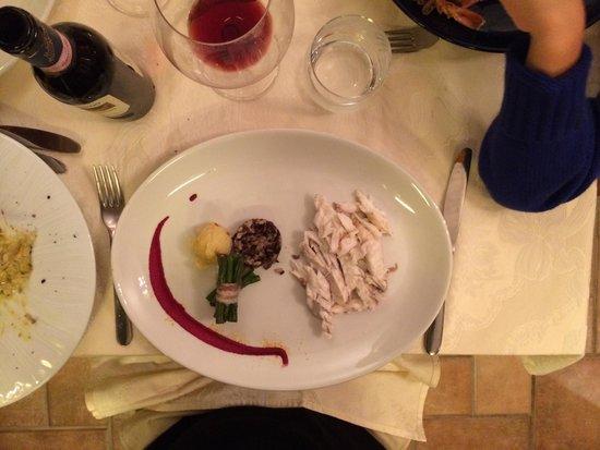 Salice Blu: Branzino baked in salt