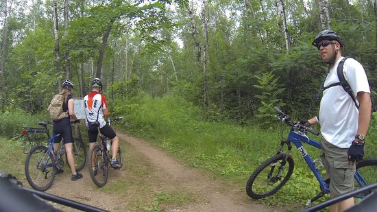 Cuyuna Country State Recreation Area: Start of singletrack