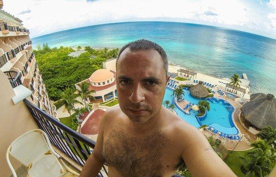 El Cozumeleno Beach Resort : vista desde la habitacion #1807 (octavo piso)