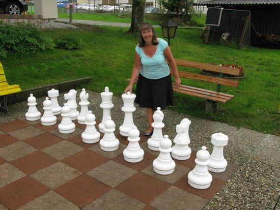 Hotel Sonnschein: Outdoor chess.