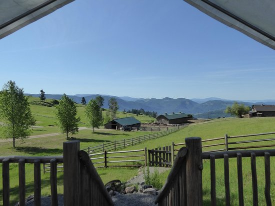 Bull Hill Guest Ranch: View from my tent