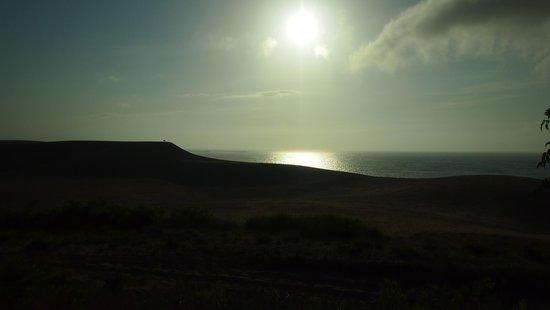 Tottori Sand Dunes : 夕日と砂丘