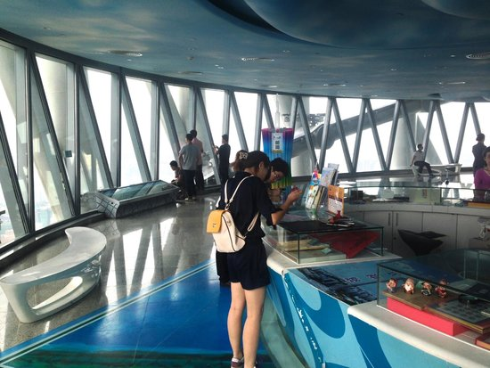 Canton Tower : Viewing deck inside
