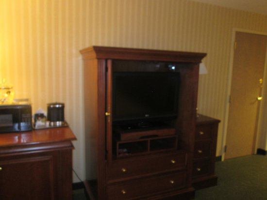 Hilton Northbrook: TV in Room 304