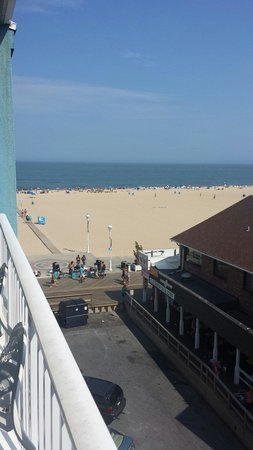 Ocean 1 Hotel and Suites: View from the top side view of hotel.