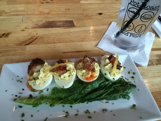 Pot Roast & Pinot: Deviled Eggs!  A must-try!