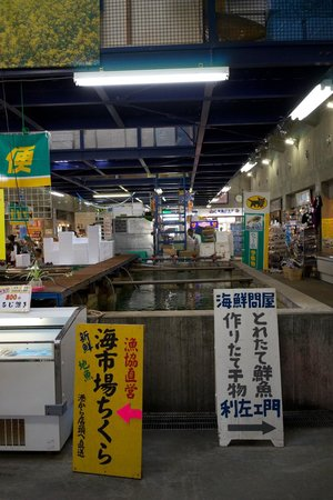 Michi-no-Eki Rakura, Shiokaze Okoku: 鮮魚もたくさん!