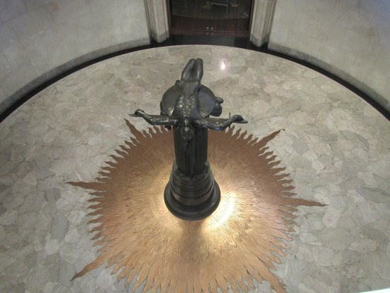 Anzac War Memorial: Looking down the sculputre called 'Sacrifice'  very moving