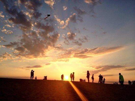Jockey's Ridge State Park: Sunset at Jockey Ridge State Park. July 25, 2014