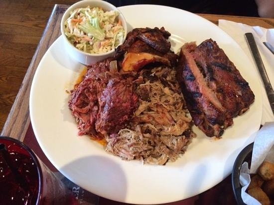 McKoy's Smoke House and Saloon: LTD (Living the Dream) Pulled pork, Ribs, Brisket, Chicken, Slaw