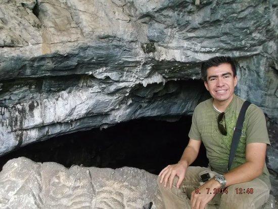 Parque Nacional Grutas de Cacahuamilpa: Entrada a la Gruta.