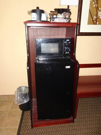 Hampton Inn Lagrange near Callaway Gardens: fridge and micro