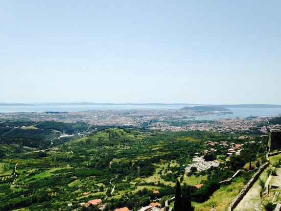 view of Split from Klis Fortress