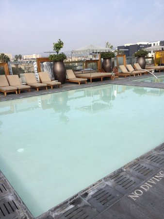 SLS Hotel, A Luxury Collection Hotel, Beverly Hills : Pool looking muky