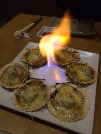 Osaka : Peruvian Scallops with Parmesan Cheese