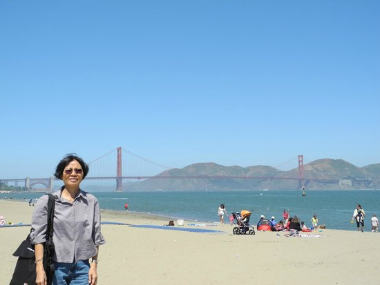 Crissy Field: SF Golden Gate Bridge in the background