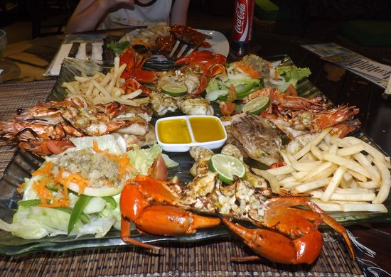 Bali Beach Shack: Seafood platter for 2 - I think it was $35 ?