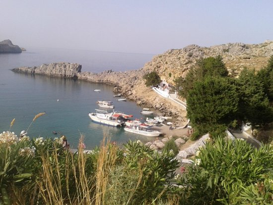 Agios Pavlos Beach (Saint Paul): You can see the chapel