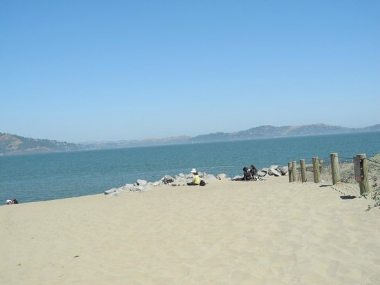 Crissy Field : every part of the beach is occupied
