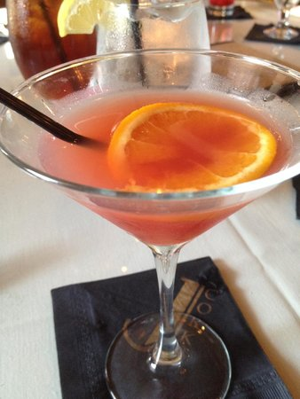J. Corks: Orange Pomegranate Martini