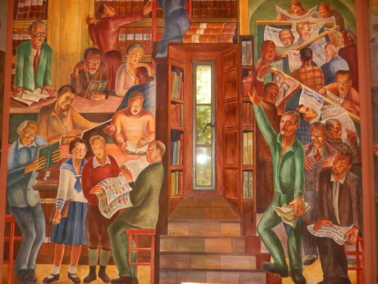 Coit tower mural photo de coit tower san francisco for Coit tower mural