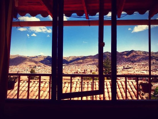 Samay Wasi Youth Hostels Cusco : View from room 9