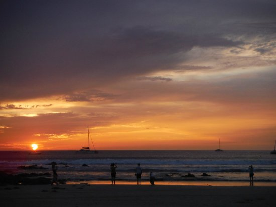 Tamarindo Beach : you can't miss the sunsets