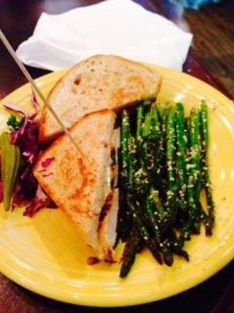 Tupelo Honey: Grilled Chicken Sandwich w/Asparagus