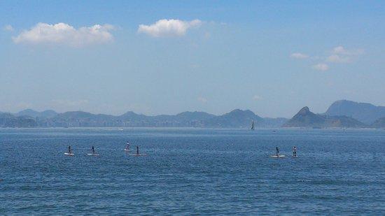 Flamengo district: Vista da Baía de Guanabara, a partir da Praia do Flamengo. Foto: Edson Cunha