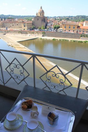 The St. Regis Florence : A little pick me up espresso in the morning from the suite's balcony