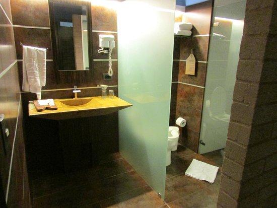 Diez Hotel Categoria Colombia: baño compartimentado