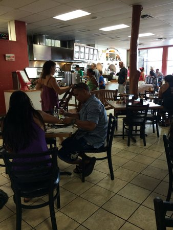 Lucy's Taqueria: Busy dining area. Order at the counter then take a seat.