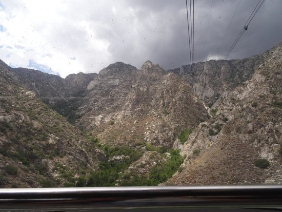 Palm Springs Aerial Tramway: Looking up towards the mountain