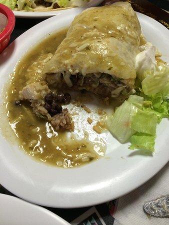 Lucy's Taqueria: Inside of fish burrito