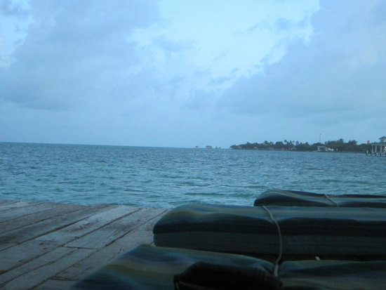 Xanadu Island Resort: View from lounge chairs under palapa