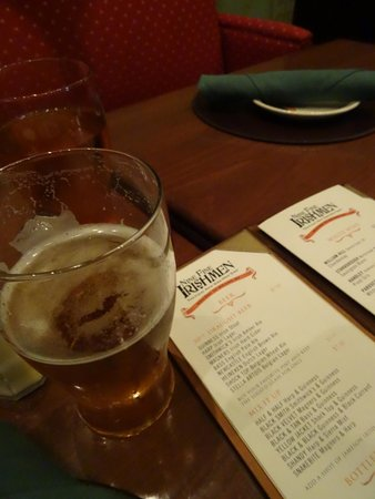 Nine Fine Irishmen : Menu and more importantly BEER