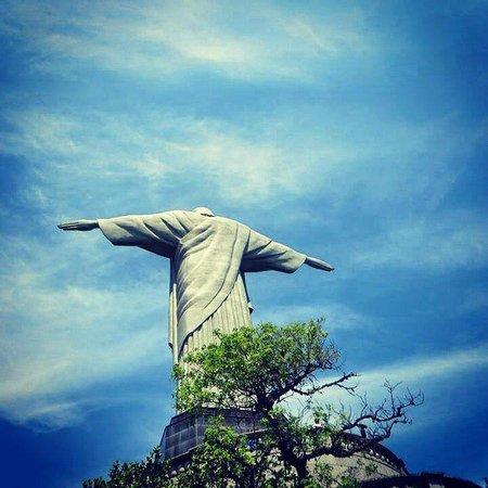Estatua de Cristo el Redentor: El Cristo desde la espalda