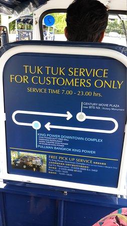 Pullman Bangkok King Power: Free Tuk-Tuk Shuttle