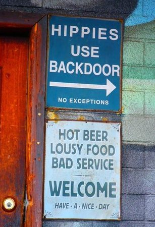 Drift Inn Saloon: At the Drift Inn entrance