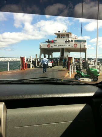 Washington Island Ferry Line: Right before our truck went on the ferry!