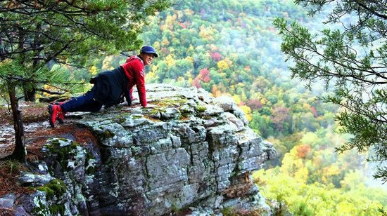 Hawksbill Crag: Small crag along the trail to crawl on for overlooking.