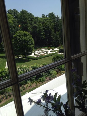 The Mount: The garden from the upstairs window