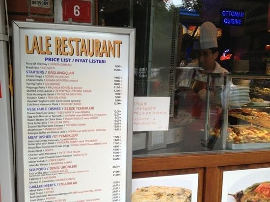 The Pudding Shop : Menu