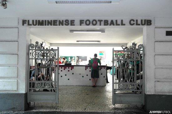 Laranjeiras Stadium: Main entrance into Stadium/Football Museum