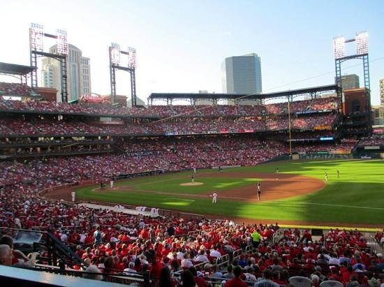 Busch Stadium: packed house on a wednesday evening