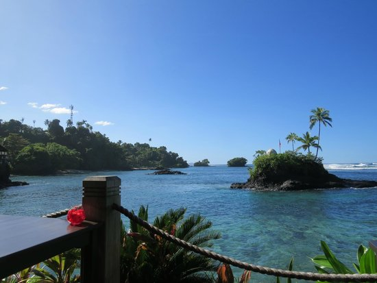 Seabreeze Resort: View at breakfast