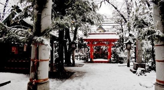 Atago shrine in the snow
